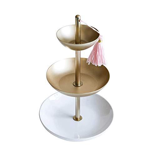 GWM Jewelry Organizer Display Tray - 3-Tier-Multifunktions-Creative Display-Ständer Organizer Tabletop Halskette Halter Ring Tray Organize Armbänder, Ohrringe, Ringe und Uhren - Tier-display Tray