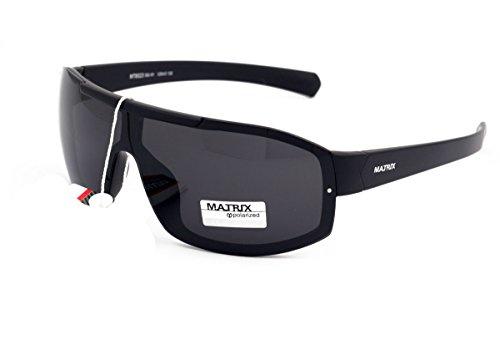 Matrix Collection Polarisierte Sonnenbrille für Männer Fahrer, Angeln, Sport - Hellgraue Gläser - Kein Blendung - Kunststoffrahmen, Neues Design