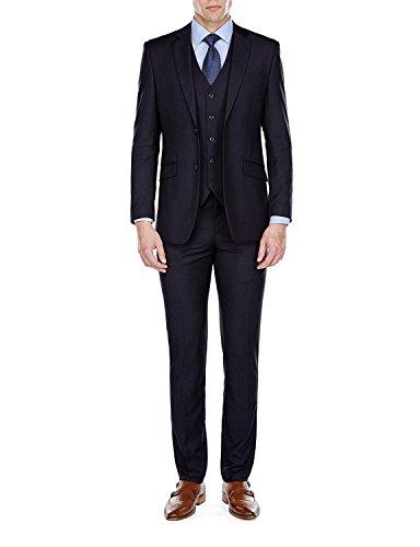 YSMO Männer Solide Two Button 3 Stück Anzug Business Blazer Jacke & Weste & Hosen ()