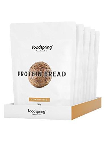foodspring Proteinbrot, 5x230g, 100% natürliche Zutaten, 90g Protein und garantiert glutenfrei