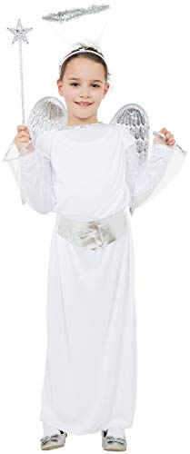 Fancy Me Weihnachtskostüm für Mädchen, Weihnachtsengel Gabriel, Weihnachtsbaum, Fee, Krippe, Schule, Spielen, Feier, Kostüm, Outfit