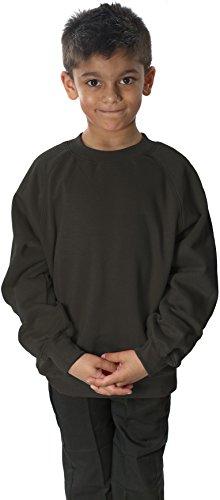 School Uniform Boys Round Neck Fleece Sweatshirt Jumper Childrens Sweater Only Uniform ®