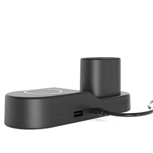 Preisvergleich Produktbild Bescita Qi Fast Wireless Ladegerät 10 W,  4 in 1 Power-Ladepad für iPhone XS / XS Max / XR für iWatch Serie 4 für Samsung Galaxy (Schwarz)