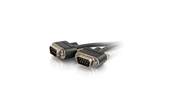 In-Wall CMG-Rated 35 Feet, 10.66 Meters Black C2G 52171 Serial RS232 DB9 Null Modem Cable with Low Profile Connectors M//M