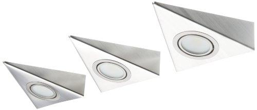 IKM LED Dreieckleuchte Edelstahl 3-er Set (ohne Schalter) 59301321/B