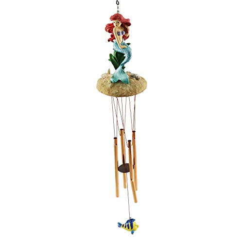 Smart Art Disney Traditions Prinzessin Windspiel Chimes, Windspiel Dekoration mit Sound Aluminium für drinnen, draußen Balkon, Garten (Ariel) | Garten > Dekoration > Windspiele | Smart Art