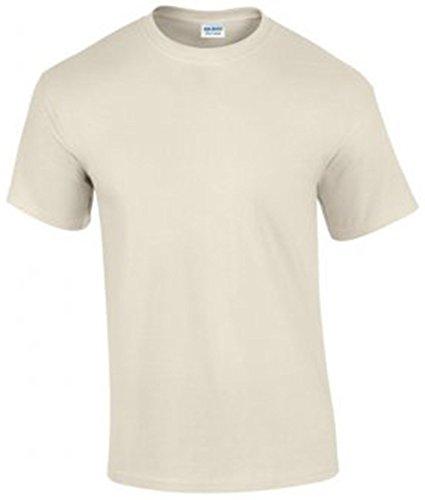 Gildan Ultra Cotton Men's Shirt Short Sleeve T Mehrfarbig - Natural