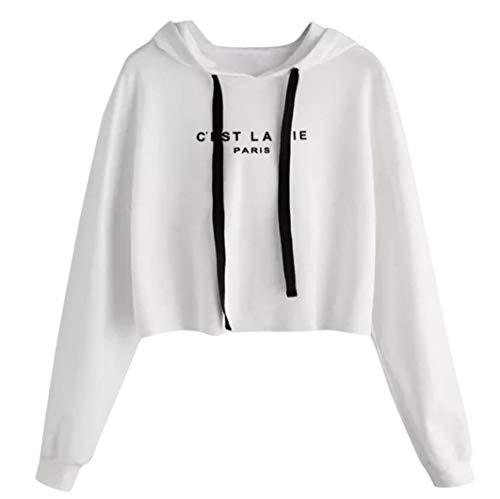 Kostüm Ivy Mädchen Frauen - TWIFER Frauen 2019 Herbst Winter Buchstaben Langarm Hoodie Pullover Sweatshirt
