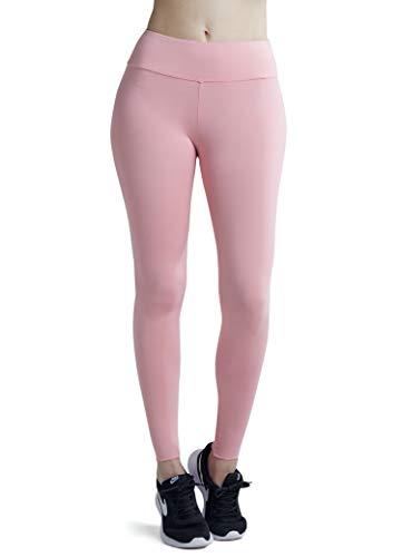 Wirezoll Damen Leggings Blinkdicht Yoga Leggings Fitnesshose, Pink, XXL