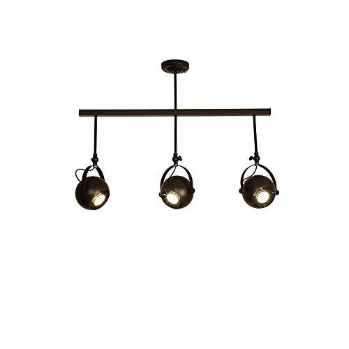 Moliay Luz de Techo giratoria de 1/2/3 Luces Iluminación de riel Ajustable...