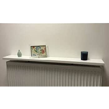 gloss white radiator shelf 48x6 inch