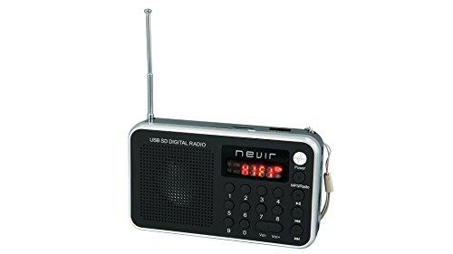 Nevir NVR-129 DUC PLA - Radio digital de bolsillo (lector micro SD, con...