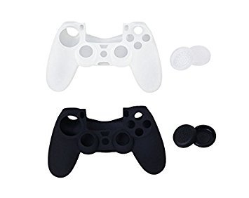 Nalmatoionme Silicone Replacement Joystick Thumbstick Caps Case Cover for PlayStation 4 PS4