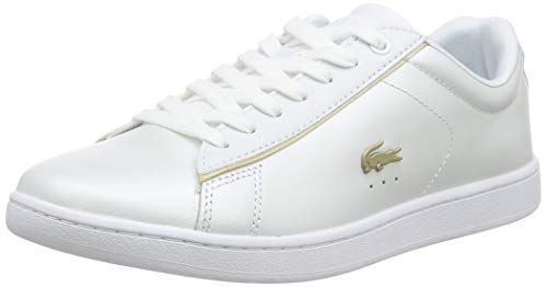 Lacoste Carnaby EVO 118 6 SPW, Zapatillas para Mujer, Blanco (White/Gold), 38...