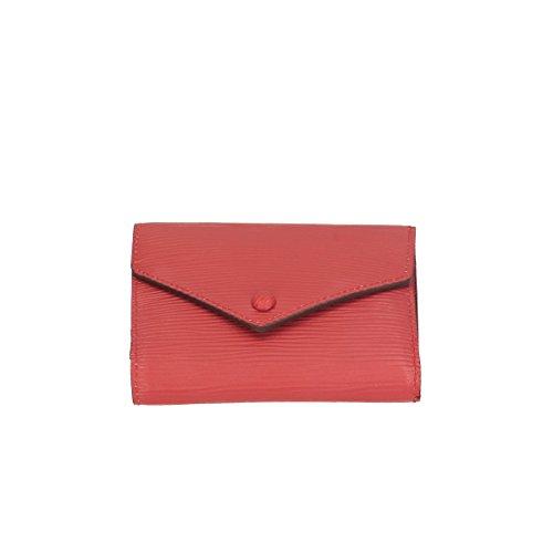 Chicca Borse Portafogli in pelle 12x9x3 100% Genuine Leather Rosso