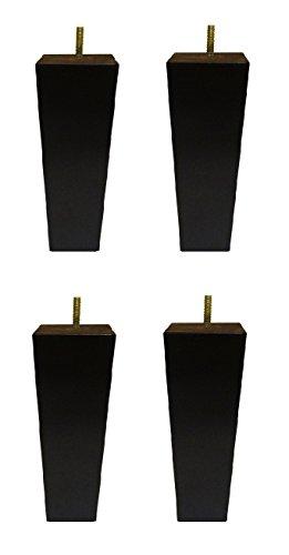 Möbelsofa/Sessel, aus massivem Holz, keilförmiges Bein, Espresso-Finish, 15,2 cm, 4 Stück - Espresso Sessel