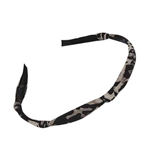CANDLLY Stirnband Damen, Kopfschmuck Zubehör Tuch Leopard Knoten Stirnband mit dünnem Rand Mode Lässig Stirnband Haargurt Krempe Haarband Haarschmuck Zubehörs Kopfbedeckung