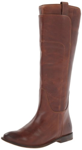 FRYE Damen Kurzschaft Stiefel, Cognac Burnished Full Grain-77535, 35.5 EU Burnished Cognac