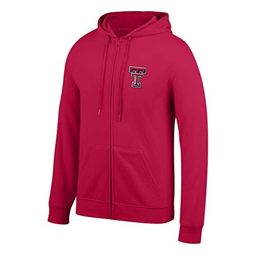 eLITe Top of The World Herren Kapuzenpullover NCAA, Herren, Men's Lightweight Full Zip Hoodie, True Red, Medium Full Zip Screen-print Sweatshirt