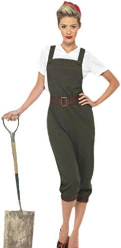 erdbeerloft - Damen 40er Jahre Landmädchen, Dorfmädchen Kostüm, M, Mehrfarbig