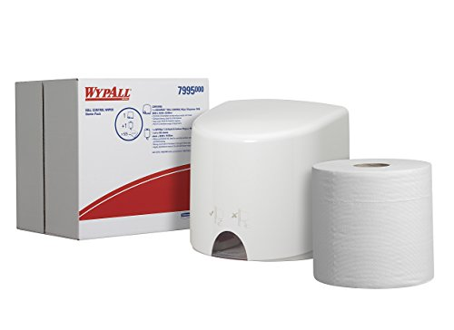 WypAll* Roll Control Wiper Starter Pack 7995 - 1 x white dispenser, 1 x white centrefeed roll