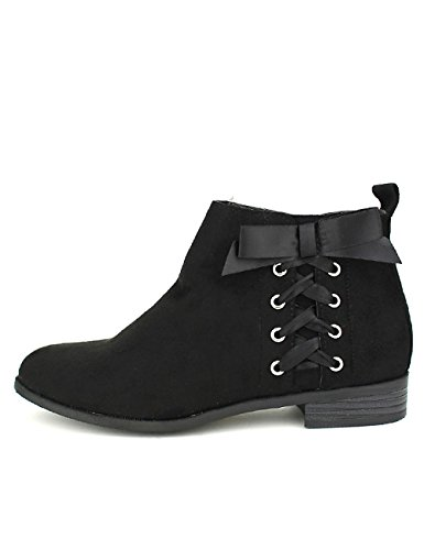 Cendriyon Bottines Noires Lacets Love Its Chaussures Femme Noir