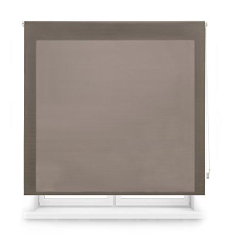 Blindecor Ara - Estor enrollable translúcido liso, color topo, 160 x 175 cm,