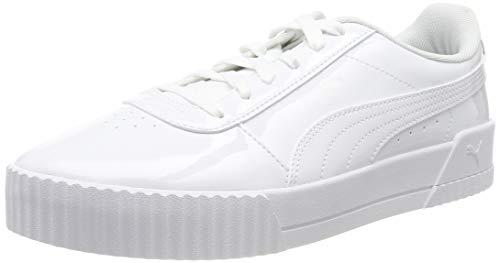 Puma Carina P, Sneaker Donna, Bianco (Puma White-Puma White), 42.5 EU