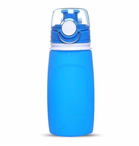 XIAOMEIXI Sport Wasserkocher Silikon Portable Faltbare Soft Water Flasche Ausgestattet für Outdoor Reiten Klettern Fitness Running (Schwarzer Tee Ausgestattet)