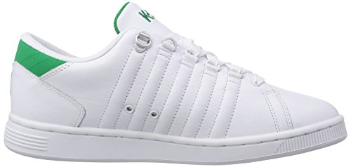 K-Swiss Lozan Iii, Chaussons Sneaker Homme Blanc (WHITE/JOLLY GREEN 108)