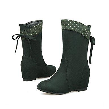 Wsx & Plm Femmes-bottines-bureau Et Travail Formel Décontracté-confortable-plat-peluche-noir Bleu Marron Vert Rouge Vert