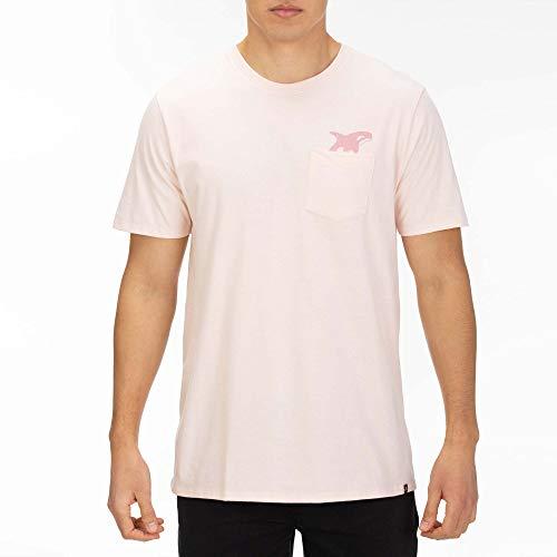 Hurley Herren M Killer BRO Pocket S/S Tee T-Shirts, Echo Pink, L - Hurley-t-shirt Pocket