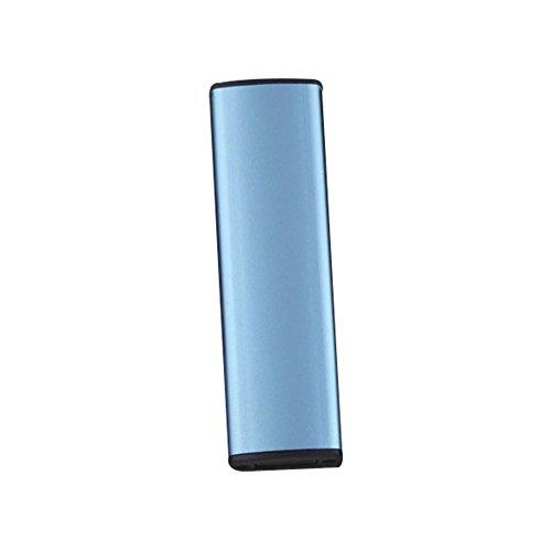 Rosepoem Encendedor de cigarrillos electrónico Encendedor a prueba de Viento Recargable Encendedor de cigarrillos Iluminación de Doble cara - Azul claro