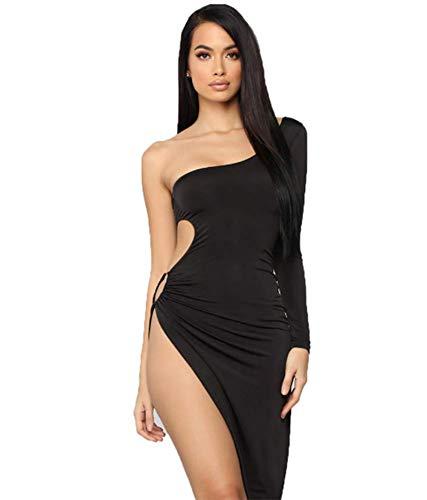 HAOBAO Europa und Amerika Bar ds Coole Kostüme Frühling und Sommer Europa und die Vereinigten Staaten sexy Frauen einfarbig Tube Top Single Layer unregelmäßigen Nachtclub Wind Kleid