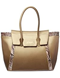 426bd01b3e Borsa a mano donna Manie Bag a spalla Oro maculato con pochette borsellino  chiusura con zip