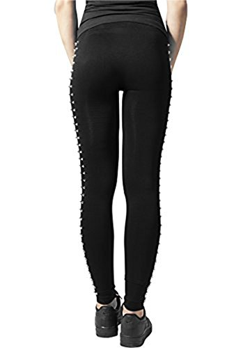 Urban Classics Ladies Side Rivets Leggings Leggings nero XS