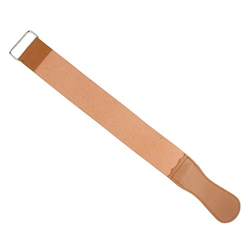 TRIXES Abziehriemen aus echtem Leder zum Schärfen von Rasiermessern Abziehleder Streichriemen