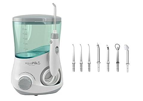 Aquapik 100 - Dental und Nasal Mundduschen einzigartig in der Welt (umfasst 7 Düsen) Empfohlen von Zahnärzten und Ärzten