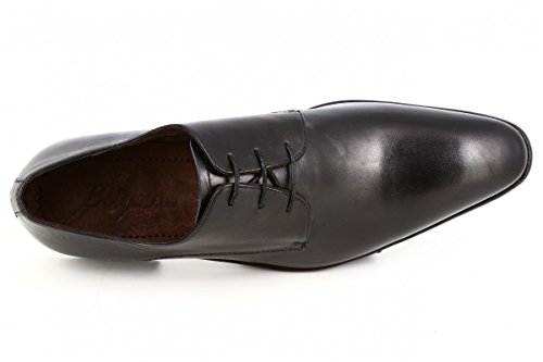 belym Chaussures Hommes de Ville en Cuir Noir Noir