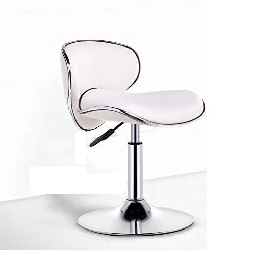 Sesselbahn moderner minimalistischer Barstuhl Barhocker mit hoher Rückenlehne Hochstuhl - Hohe Rückenlehne, Braunes Leder
