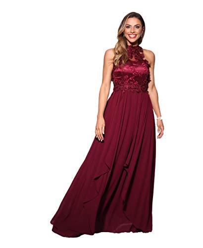 KRISP Damen Abendkleid, Weinrot (4812), 48 EU (Herstellergröße: 3XL; 20), 4812-WIN-20