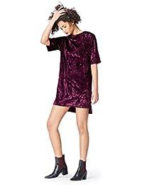 FIND Damen T-Shirt-Kleid aus Samt