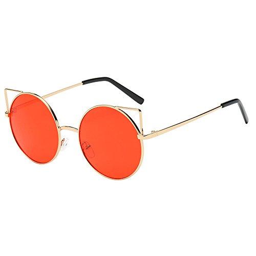 Hniunew Fashion Wild Joker Brillen Ultra Light Frame Sonnenbrillen Reisebrillen Mirror Lens Balken Vintage UnregelmäßIge GläSer MäNner Frauen Katzenaugen Shades Acetat Rahmen Uv Brille