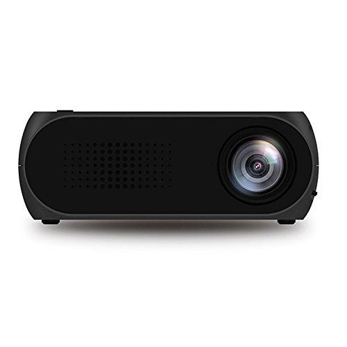 elegantstunning Mini Projector Home Theater Cinema TV Portable LED Projector 1080P HDMI USB SD AV Projector Black