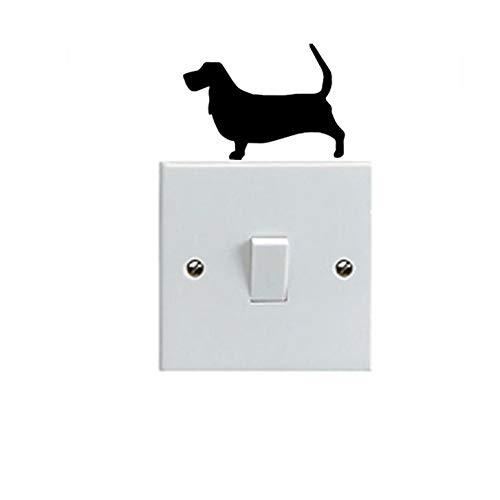 Basset Hound Dog niedlichen Haustier Hund Schalter Formen Vinyl Wandaufkleber