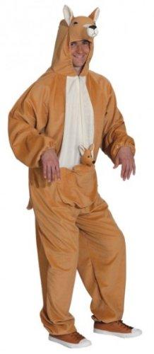 Für Erwachsene Känguru Kostüm - Känguru (Overall) - Größe: Unisize (54 - 58)