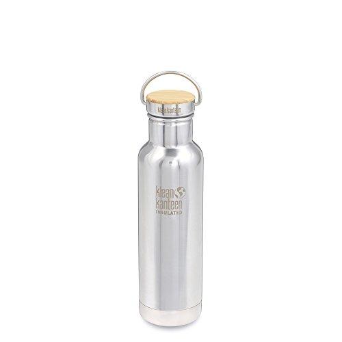 Klean Kanteen Reflect Doppelwandiger vakuumisolierter Edelstahl Kunststoff Freien Wasser Flasche mit Edelstahl und Bambus Gap, Mirrored Stainless