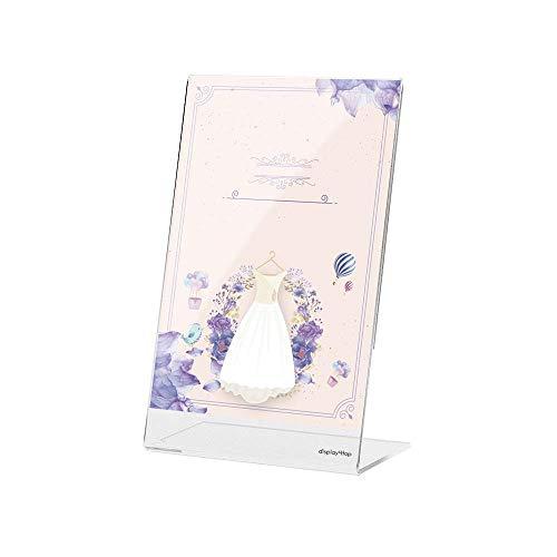 DISPLAY4TOP A4acrilico poster menu Holder, foglio espositore, confezione da 5