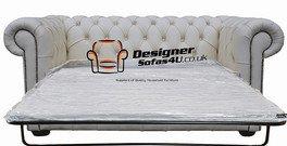 Designer Sofas4u Chesterfield Canapé 2 Places Lit Cuir Blanc