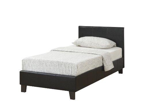 Birlea Berlin Bed - Faux Leather, Black, Single